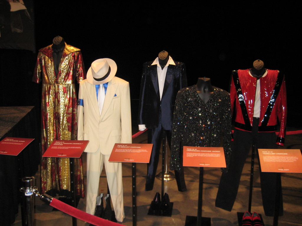 Various MJ outfits.