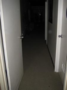 Foreboding hallways.