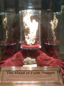 Giant gold nugget at the... Golden Nugget.