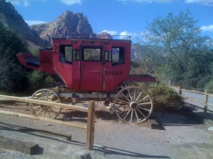 Old stagecoach.