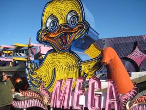 Neon duck.