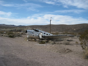 Angel's Ladies has a crashed plane out front with an interesting backstory.
