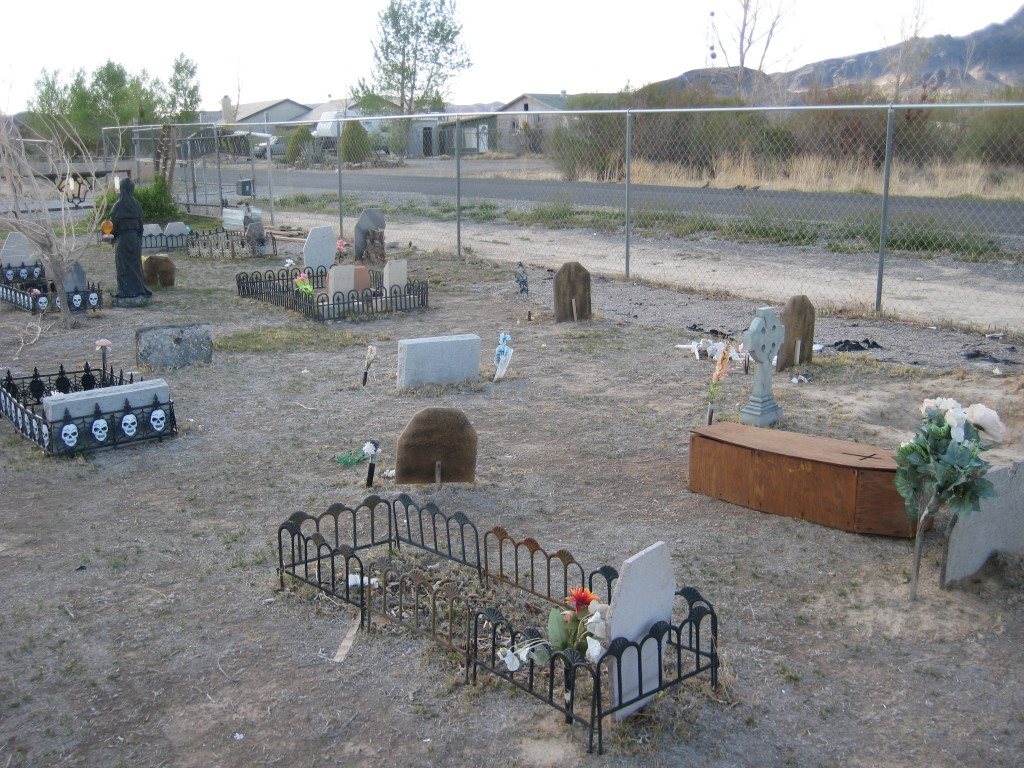 Part of the graveyard.