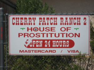Ha!  This place was hiding behind the gas station at the mid point between Vegas and Beatty.