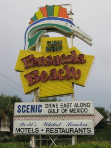 The sign at day.