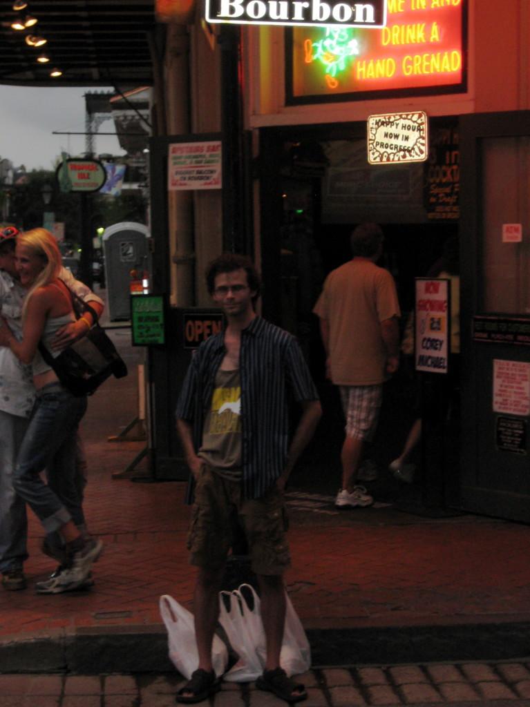 On Bourbon Street.