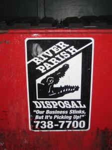 Dumpster humor....