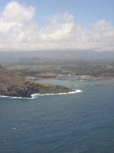 To land in Kauai.