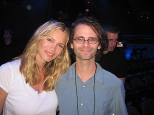 Natasha Henstridge and me.