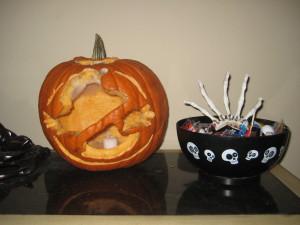 "The ""Ghostbusters"" pumpkin."