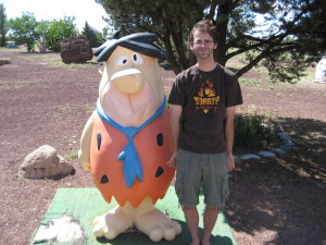 Posing with Fred.