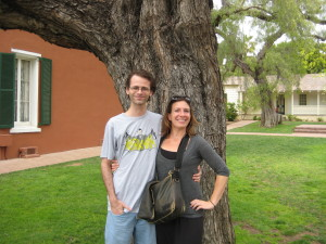 Out by the Whaley House.