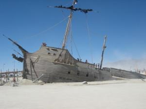 The desert ship.