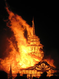 The burning of the Temple.