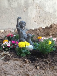 She would have dug up each and every flower.