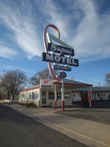 Great old motels along the way.