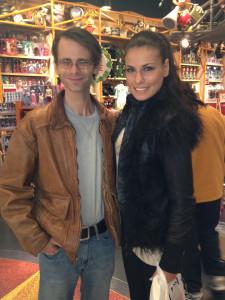 Shopping with Vasiliki.