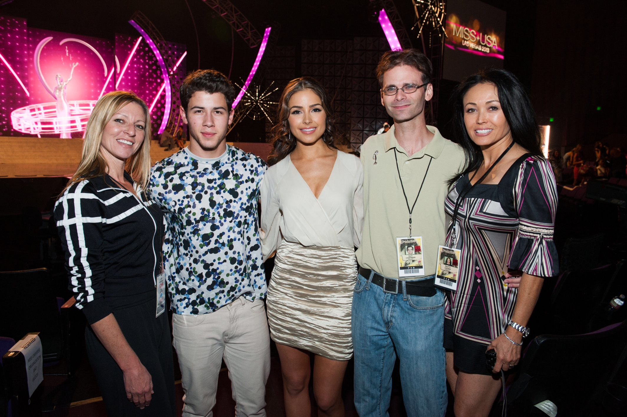 Nick Jonas, Olivia Culpo, my colleagues, and I.