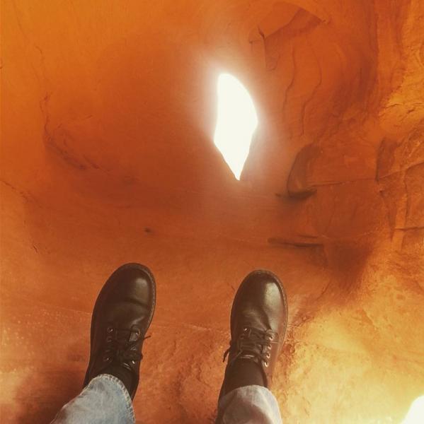 Artsy rock feet.
