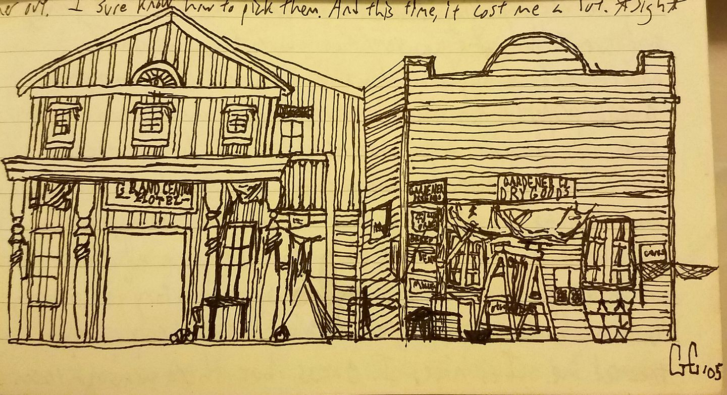 Deadwood sketchings from my old journals.